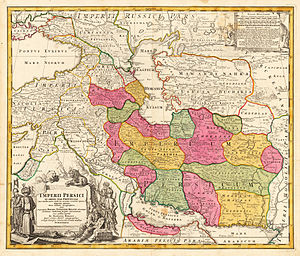 Sistan - Map of the Safavid dynasty in ca. 1720, with Sistan as one of its major provinces.