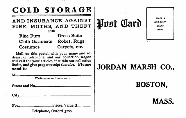 Other resolutions 320 × 202 pixels ...  sc 1 st  Wikimedia Commons & File:Jordan Marsh Company Boston Massachusetts Cold Storage for ...
