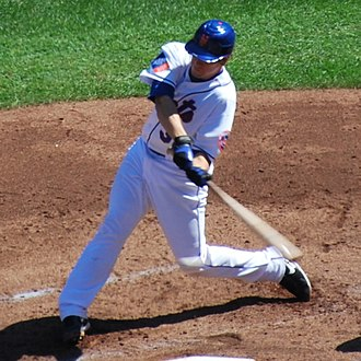Josh Thole - Thole batting for the Mets in 2009.