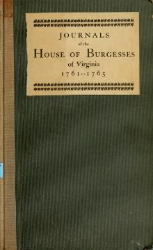 Journals of the House of Burgesses of Virginia, 1761-1765.djvu