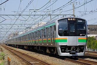 E217 series - E217 series in Shōnan livery, April 2007