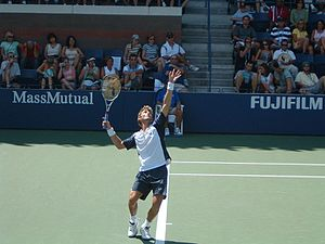 Juan Carlos Ferrero - Ferrero during the 2004 US Open.