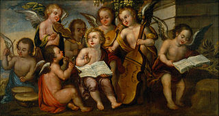The Infant Jesús with Angelic Musicians