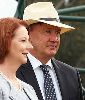 Tim Mathieson - Mathieson with Julia Gillard in 2013