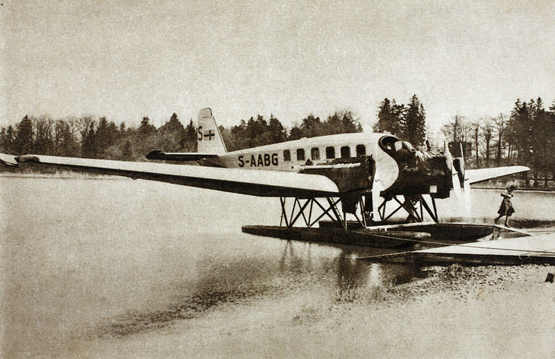 File:Junker G 24, S-AABG, Uppland, ABA aircraft during 1927-1932.jpg