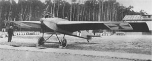 Monoplane - The Junkers J 1 monoplane pioneered all-metal construction in 1915.