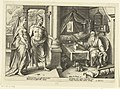 Juno en Jupiter gaan te rade bij Tiresias Ovidius' Metamorfosen (serietitel), RP-P-1882-A-6389.jpg