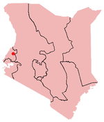 Location of Webuye in Kenya