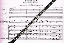 Image illustrative de l'article Concerto pour clarinette de Mozart