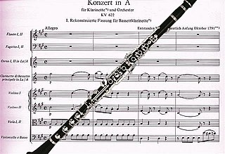 Clarinet Concerto (Mozart) Musical composition by Mozart