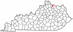 Location of Brooksville, Kentucky