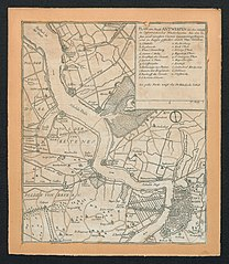Kaart van Antwerpen en de omgeving
