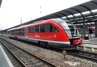 Alsenz Valley Railway - Regionalbahn service in Kaiserslautern on its way to Bingen