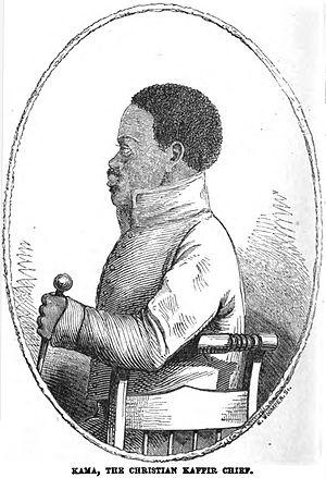 Gqunukhwebe - Image: Kama, The Christian Kaffir Chief (July 1853, X, p.72) Copy