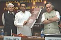 Kamal Nath releasing the Annual Supplement to the Foreign Trade Policy (2004-09), in New Delhi. The Minister of State for Commerce, Shri Jairam Ramesh and the Minister of State for Industry, Shri Ashwani Kumar are also seen.jpg