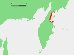 Karaginsky Gulf - Location on the map.