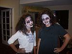 Karina Hamilton and Claudia Castro of SER-FL-279th Civil Air Patrol Squadron show their best zombie smiles.jpg