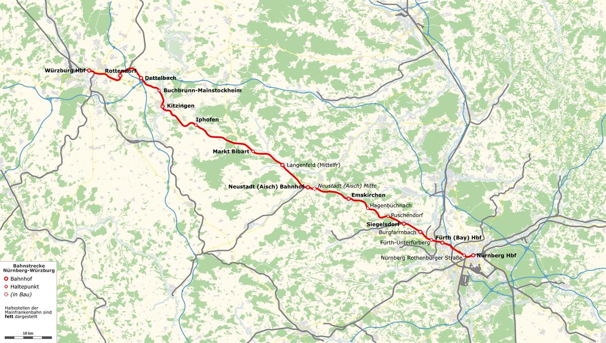 Bahnstrecke München Nürnberg