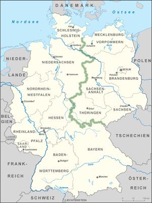 Karte deutschland grünes band