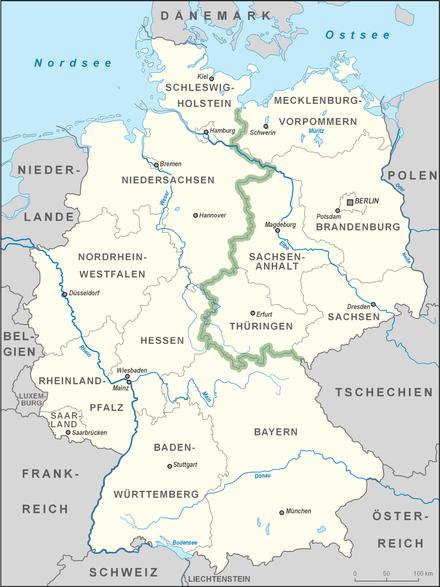 Priwall Karte.Inner German Border