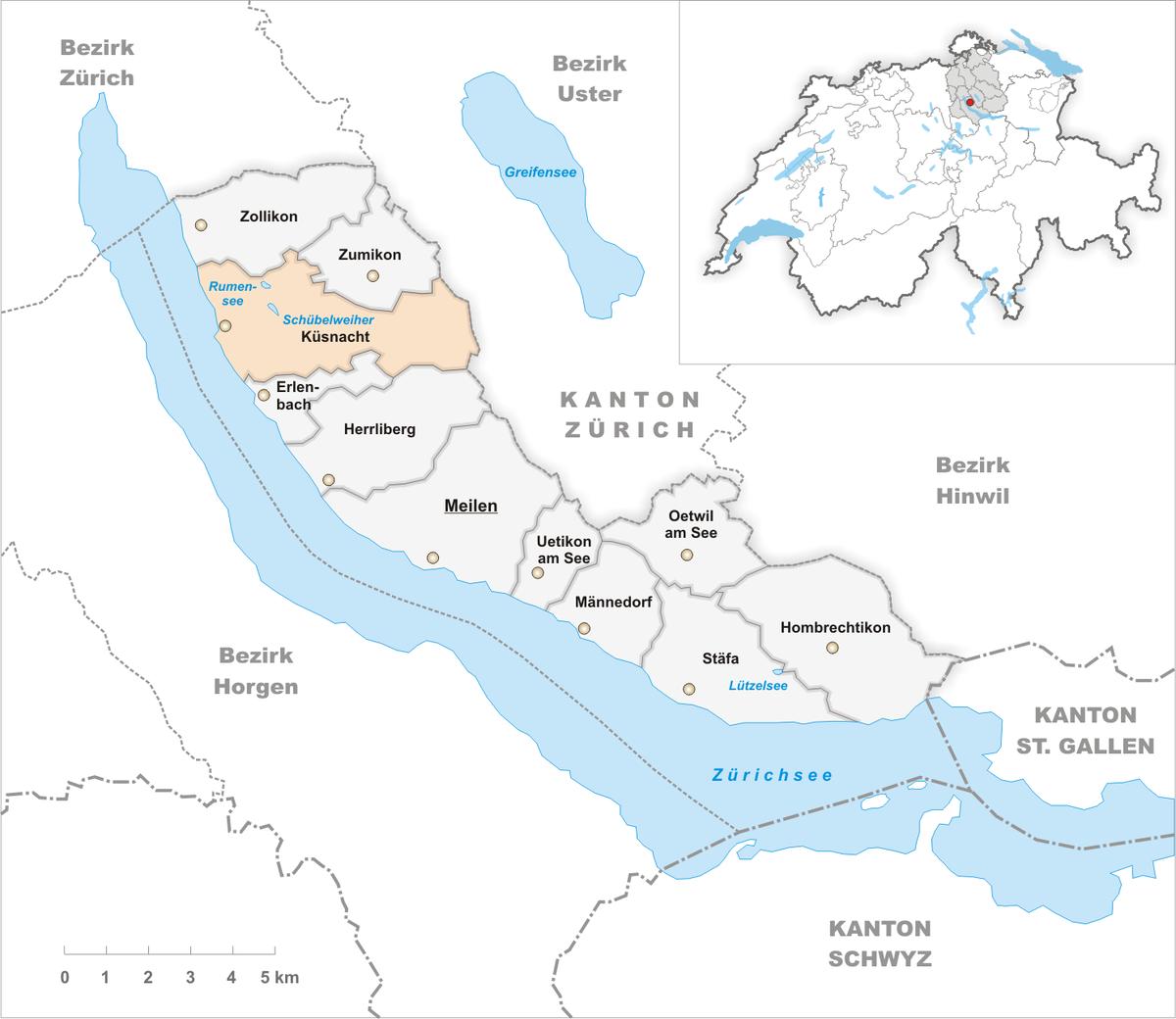 Plz Karte Schweiz.Kusnacht Wikipedia