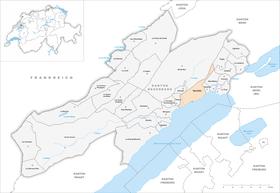 Map of Neuchâtel Neuchatel