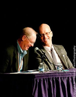 Kendrick Frazier - Ken and George Hrab share a laugh at NECSS panel in April 2011