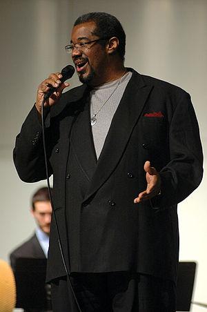 Kevin Mahogany - Jazz singer Kevin Mahogany at the University of Wisconsin Eau Claire Jazz Festival, March 4, 2007