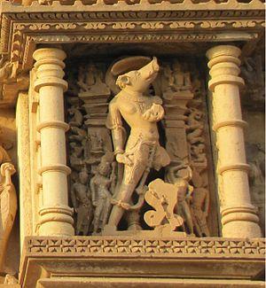 Vamana Temple, Khajuraho - Image: Khajuraho India, Vamana Temple, Varaha Sculpture