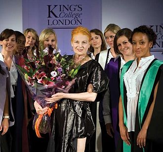 Vivienne Westwood - Academic dress of King's College London in different colours, designed and presented by Vivienne Westwood in 2008.