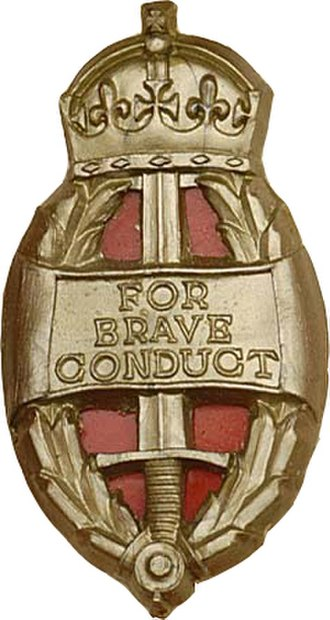 Queen's Commendation for Brave Conduct - Image: King's Commendation for Brave Conduct badge