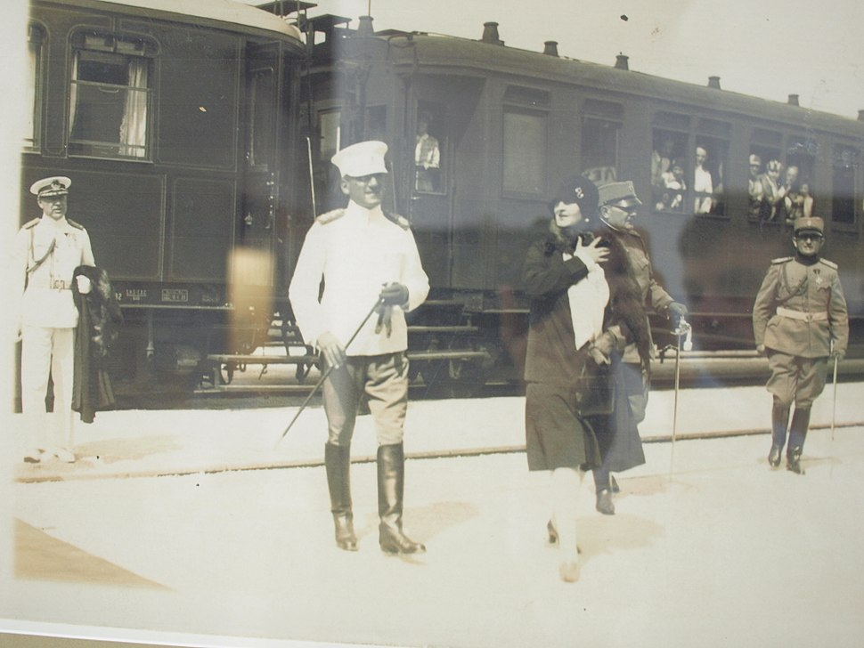 King Alexander I. Yugoslavia and Queen Maria at Topcider 1930th