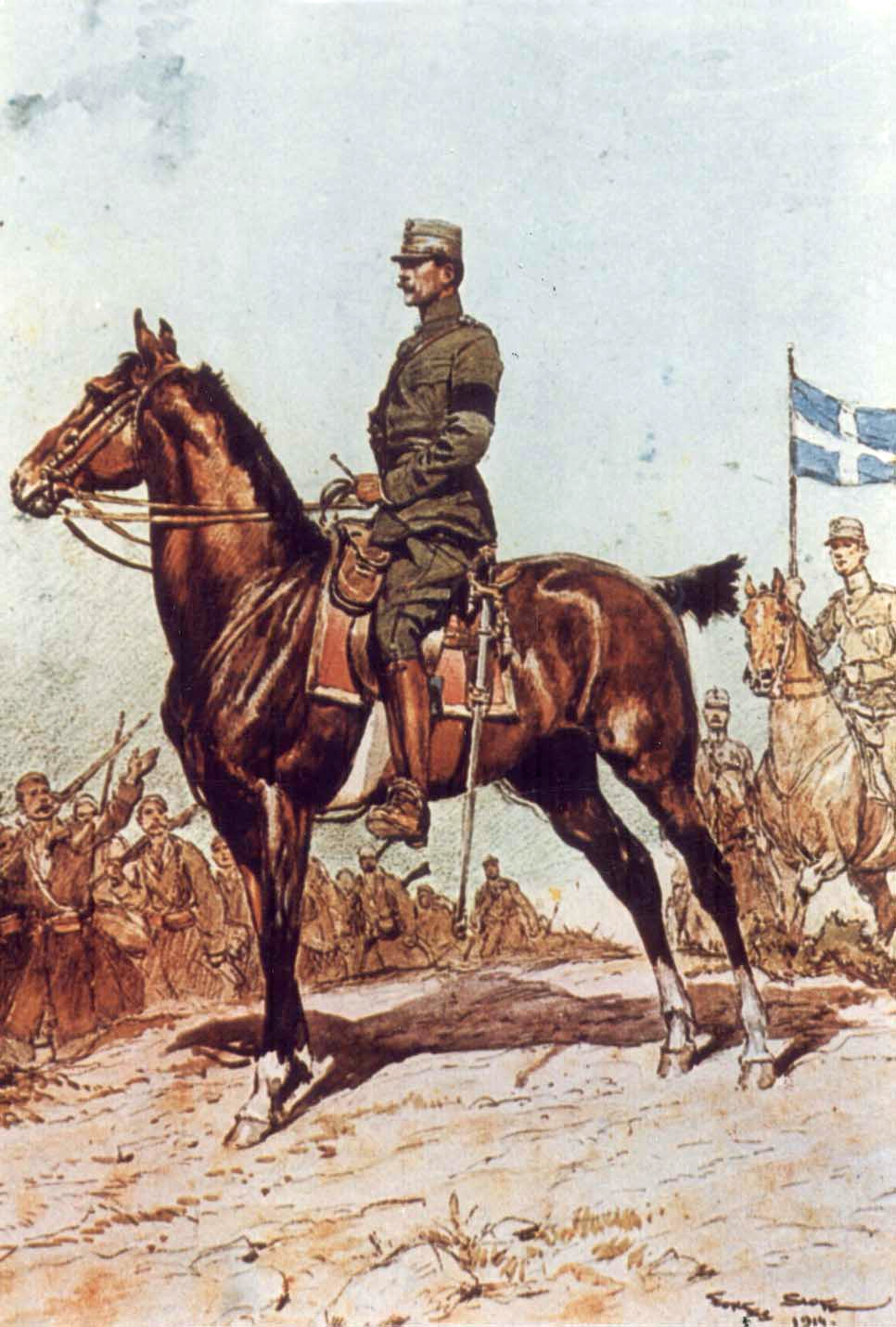 King Constantine I of Greece, by Georges Scott