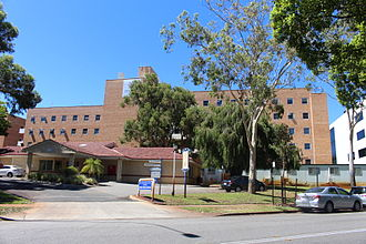 King Edward Memorial Hospital for Women - Family Birth Centre (front) and Agnes Walsh House buildings