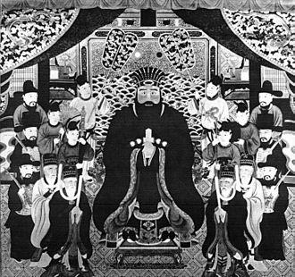 Shō En - Formal royal portrait of King Shō En by Kobashigawa Chōan.