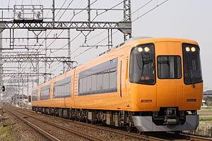 Kintetsu 22000 series - A 4-car 22000 series EMU on the Kintetsu Kyoto Line