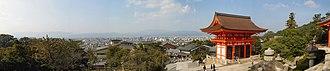 Keihanshin - Image: Kiyomizudera temple in Kyoto panoramic view