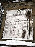 Kleve forstgarten obelisk winter 2