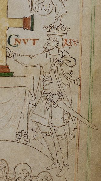 Echmarcach mac Ragnaill - Depiction of Knútr as it appears on folio 6r of British Library Stowe 944.