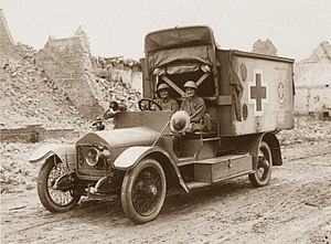 Mairi Chisholm - Image: Knockchis Wolseley ambulance