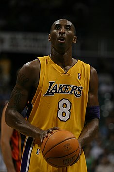 Bryant v dresu Los Angeles Lakers