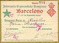 Kongresakarto de la Internacia Esperantista Kongreso, Barcelono, 1909.jpg