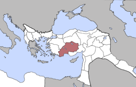 Location of Konya Vilayet