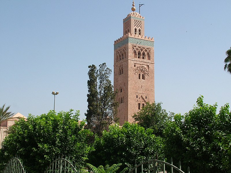 مدينه مراكش المغربيه المدينه الحمراء صور ومعلومات 800px-Koutoubia_Mosque%2CMarrakech%2CMorocco