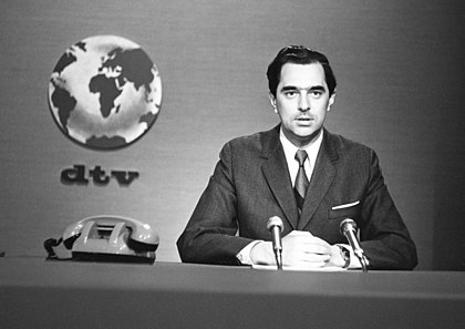 Propaganda and manipulation can be found in television, and in news programs that influence mass audiences. An example is the infamous Dziennik (Journal) news cast, which harshly criticised capitalism in the then-communist Polish People's Republic using emotive and loaded language. Kozera DTV.jpg