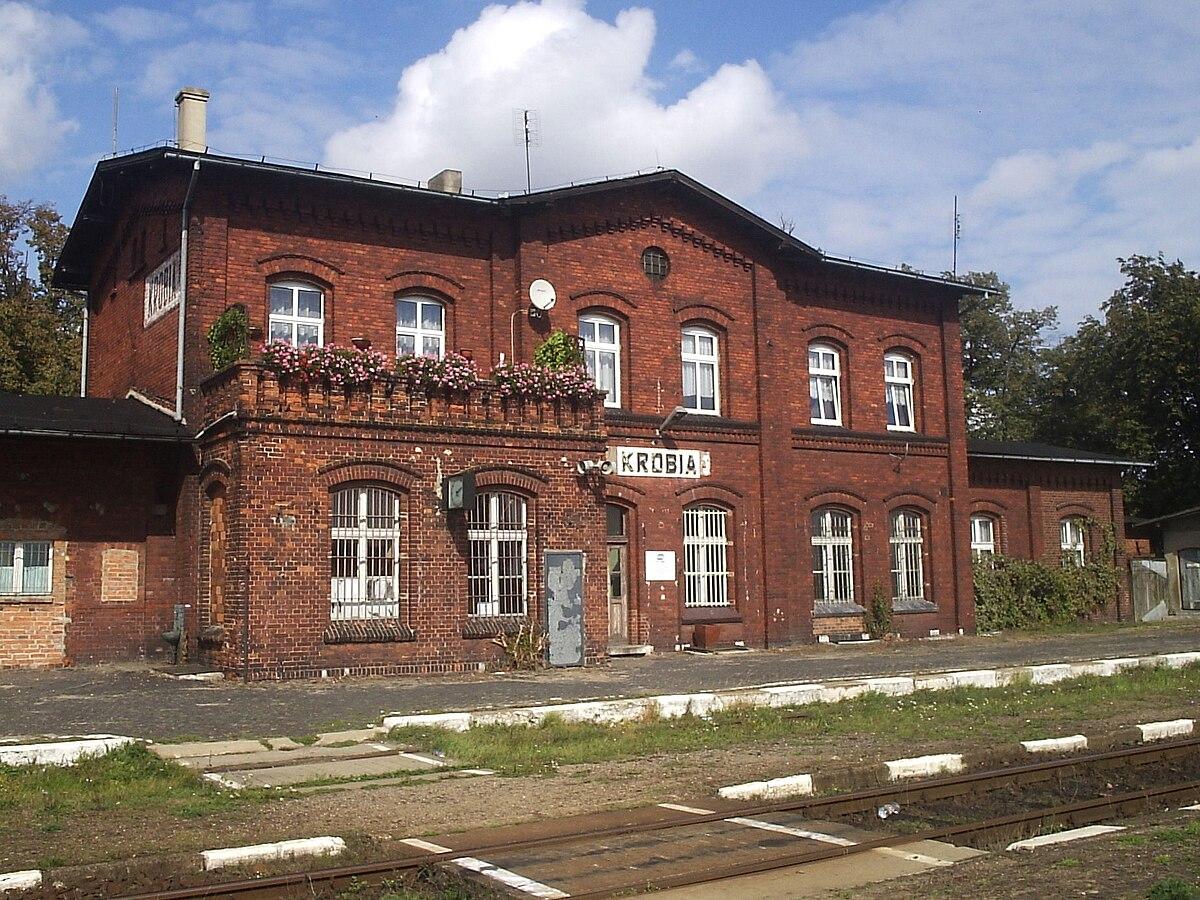 Krobia Stacja Kolejowa Wikipedia Wolna Encyklopedia