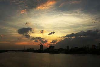 Kuantan River - An evening view of the Kuantan River.