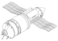 Kvant-1 with its orbital tug attached