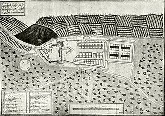 Levice - Austrian map, 1672