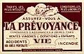 La Prévoyance, compagnies d'assurances, avant 1914.jpg